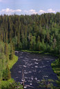 Wild Northern river Royalty Free Stock Images
