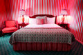 Wild Red Bedroom Royalty Free Stock Photo