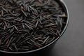 Wild rice in a bowl Royalty Free Stock Photo