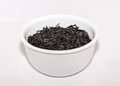 Wild rice in a white bowl Royalty Free Stock Image