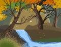 Wild river scene