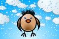 Wild sparrow graphic illustration of Stock Photos