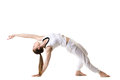 Wild Thing yoga pose Royalty Free Stock Photo