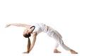 Wild Thing yoga pose Royalty Free Stock Photo