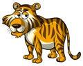 Wild tiger with sleepy eyes Royalty Free Stock Photo