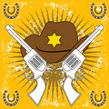 Wild west abstract vector Royalty Free Stock Photo