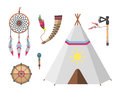 Wild west american indian designed element traditional art concept and native tribal ethnic feather culture ornament for Royalty Free Stock Photo