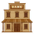 Wild west ban bank building from Royalty Free Stock Photo