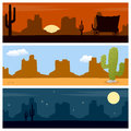 Wild West Desert Banners Royalty Free Stock Photo