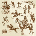 Wild west hand drawn collection Stock Image