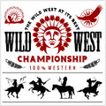Wild West. Native american chief head illustration. Design elements for logo, label, emblem,sign.