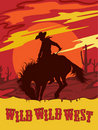 Wild west vector illustration Royalty Free Stock Photo