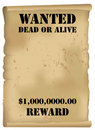 Wild West Wanted Poster Royalty Free Stock Images