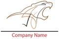 Wildcat logo Royalty Free Stock Photo