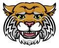 Wildcat Mascot Cute Happy Cartoon Character Royalty Free Stock Photo
