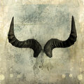 Wildebeest Horns Royalty Free Stock Photo