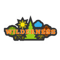 Wilderness badge sticker or logo.