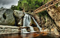 Wilderness waterfall national park western cape south africa Stock Images