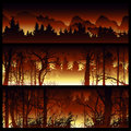 Wildfire vector background.