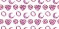 Wildflower kosmeya flower pattern in a watercolor style isolated.