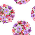 Wildflower kosmeya flower pattern in a watercolor style isolated.