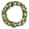Wildflower Wreath Royalty Free Stock Photo
