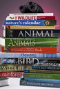 Wildlife & Nature Books Stock Photos