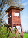 Wildlife observation point raised blind Stock Photography