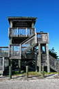 Wildlife observation tower Stock Photos