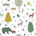 stock image of  Forest animals