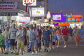 Wildwood boardwalkers new jersey usa september crowd of tourists walking the two mile long boardwalk that is full of fast food Stock Photo