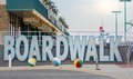 Wildwood, New Jersey, USA - May 26, 2016: View at the boardwalk, famous tourist spot