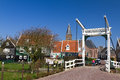 Wilhelmina bridge Marken Stock Photography
