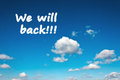 We will back Royalty Free Stock Photo