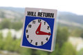 Will return sign with nature background Royalty Free Stock Photo