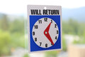 Will return sign with nature background Royalty Free Stock Image