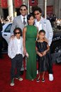 Will smith jada pinkett smith jada pinkett smith with and family at the world premiere of hancock grauman s chinese theatre Stock Photo