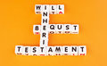 Will, testament and bequest Royalty Free Stock Photo