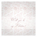 Will you be my valentine valentines day decorative background pink post card vector Stock Image