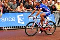 William bonnet france london uk – july representing the fdj fr cycling team arrives at the mall approaching the finish line of Royalty Free Stock Images
