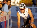 William Vas Racing in the Arizona Ironman Triathlo Stock Photos