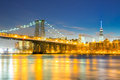 Williamsburg Bridge at dusk Royalty Free Stock Photo