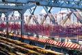 Williamsburg Bridge subway tracks and walkway in New York City Royalty Free Stock Photo