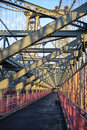 Williamsburg Bridge Walkway Royalty Free Stock Photos
