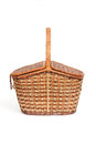 Willow pannier this is the wicker in white background Royalty Free Stock Photos