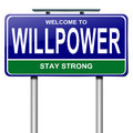 Willpower concept. Royalty Free Stock Photo