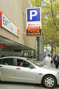 Wilson parking s queen street facility offers secure hour car parking on a casual or monthly basis melbourne australia april it Royalty Free Stock Images