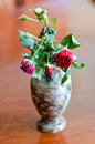Wilted rose in a vase Stock Photo