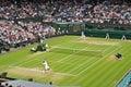 Wimbledon 2012 men's semi final Royalty Free Stock Photo
