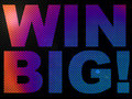 WIN BIG Prize Sign Lit With LED Lights Stock Image
